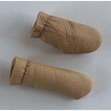 Leather Finger Protector Thimble Pair - Light Tan